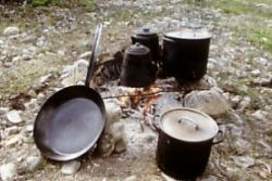 Cooking gear for Yukon campfire
