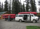 Canoe shuttle Yukon