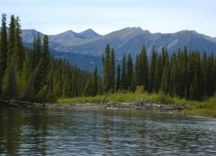 Big Salmon River, Yukon, Upper section