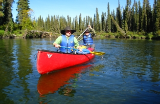 Paddling Big Salmon River. Yukon