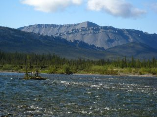 Blackstone River, clear Mountain River, Yukon