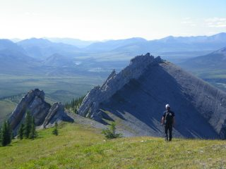Hiking above Blackstone River, Yukon