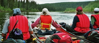 Floating on Teslin River