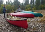 Big Salmon Canoe Trip canoes Yukon