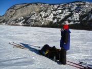 Yukon snowshoeing and ski tour Lake Laberge