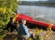Big Salmon Lake canoe trip Yukon, canada